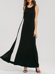 Swing Two Tone Maxi Dress - Black Xl