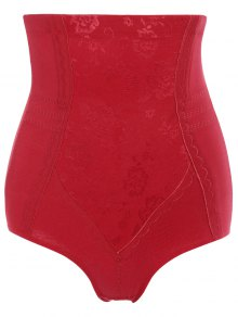 Tummy Control Shapewear Corset Briefs - Red M