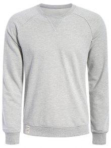 Mens Terry Pullover Sweatshirt - Gray L