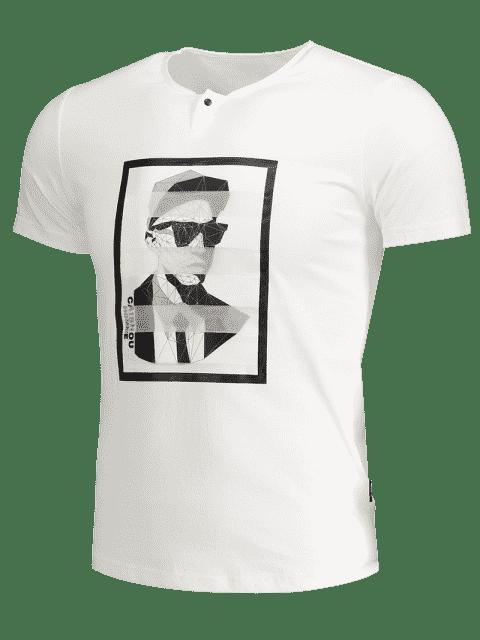 shop Mens Graphic Cotton Tee - WHITE M Mobile
