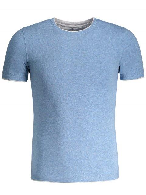 shops Short Sleeve Mens Space Dye Tee - BLUE 3XL Mobile
