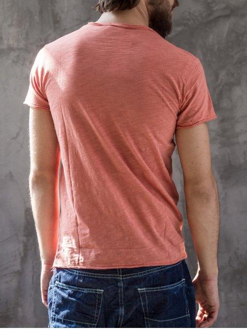 latest Mens Raw Edge Cotton Basic Tee - JACINTH XL Mobile