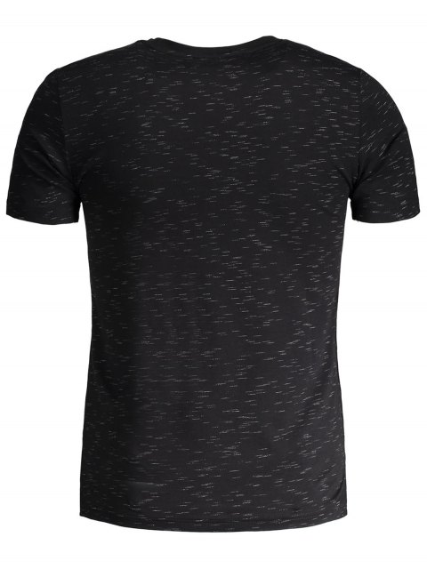 lady Mens Speckled Graphic Jersey Tee - BLACK 3XL Mobile