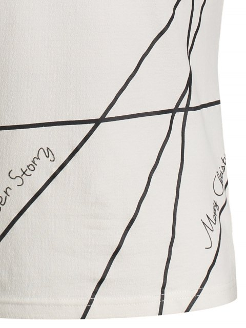online Mens Short Sleeve Geo Print Tee - WHITE M Mobile