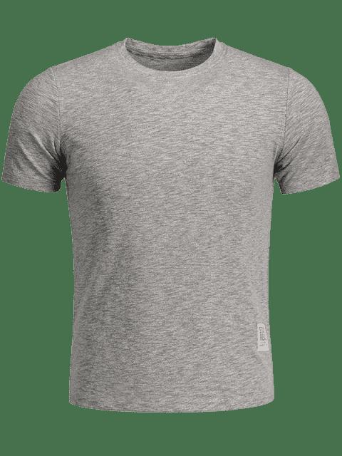 ladies Mens Space Dye Sweat Top - GRAY 2XL Mobile