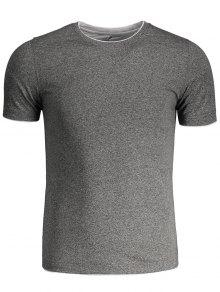 Short Sleeve Mens Space Dye Tee - Gray 3xl