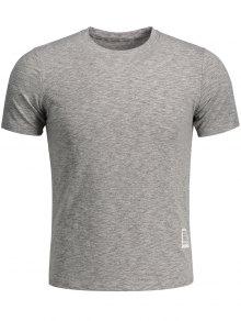 Mens Space Dye Sweat Top - Gray M