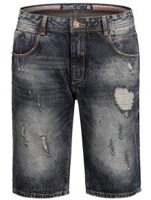 Bermuda Ripped Denim Shorts - Black M