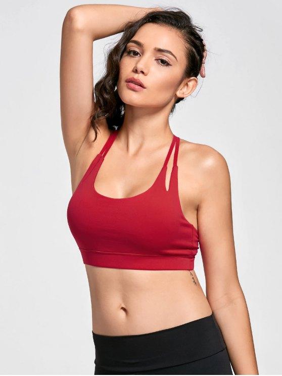 Soutien-gorge sportif rapide à sec - Rouge XL