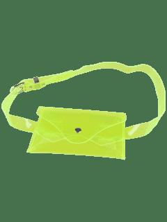 Jelly Color Portable Waist Belt Bag - Neon Green