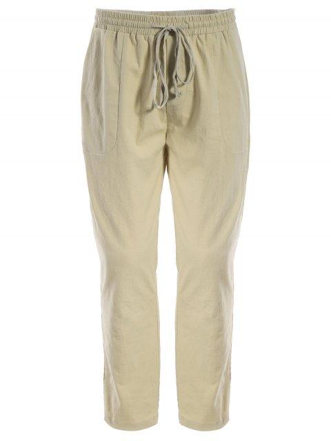 online Mens Drawstring Joggers Pants - KHAKI 5XL Mobile