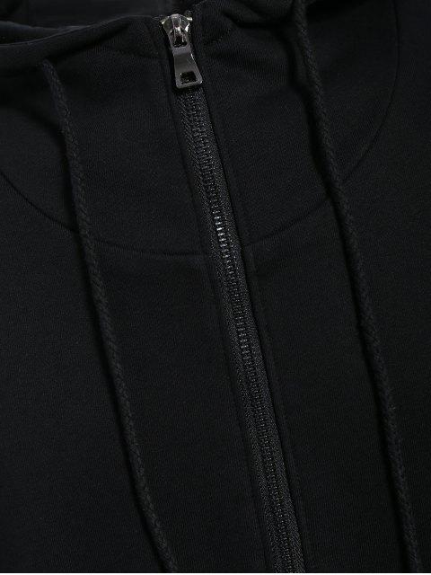 womens Mens Front Pocket Oversized Pullover Hoodie - BLACK L Mobile