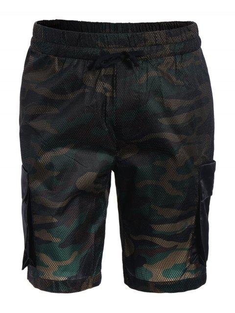 Camo Print Swim Cargo Board Shorts - Camouflage 3XL Mobile