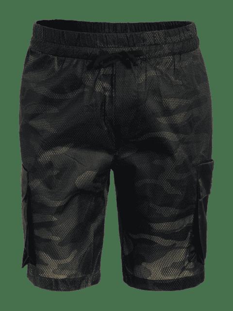 online Camo Print Swim Cargo Board Shorts - CAMOUFLAGE L Mobile