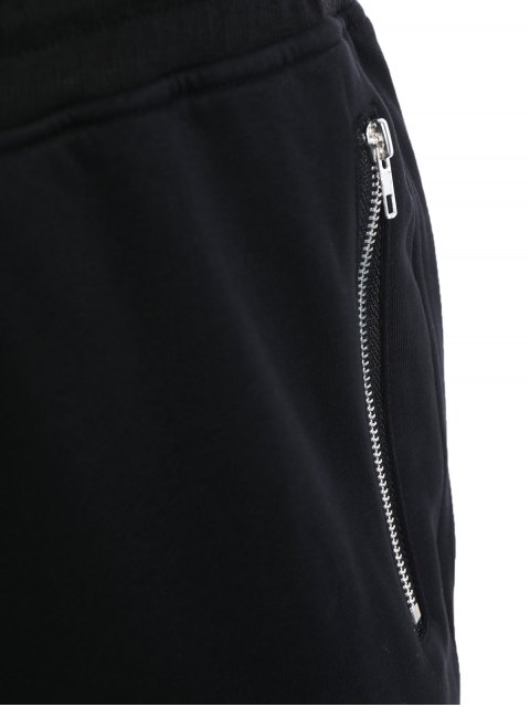 shops Zip Pockets Mens Joggers Sweatpants - BLACK L Mobile