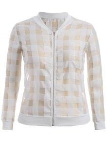 Organza Plus Size Sun Block Jacket - White 3xl