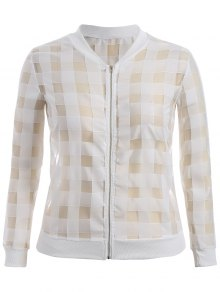 Organza Plus Size Sun Block Jacket - White 2xl