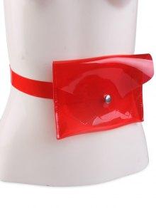 Jelly Color Portable Waist Belt Bag - Red