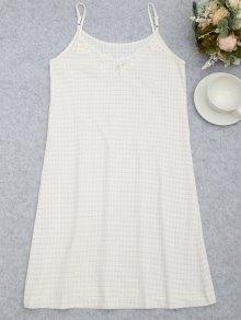 Cami Keyhole Striped Sleep Dress - White S
