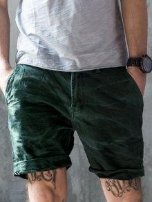 Mens Denim Bermuda Shorts - Blue Green 32