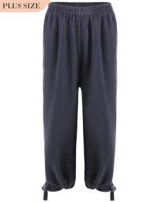 Bow Tie Plus Size Harem Pants - Smashing 2xl