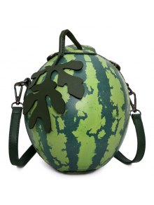 Buy Funny Watermelon Shaped Crossbody Bag - GREEN