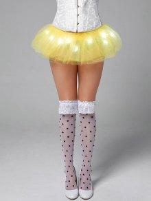 Tier Mesh Light Up Ballet Cosplay Skirt - Yellow
