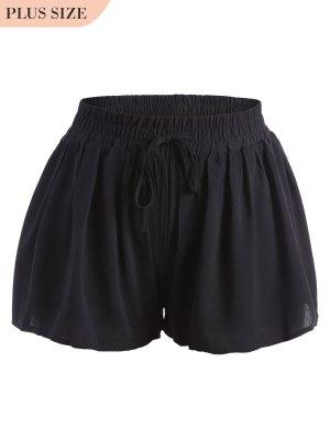 Plus Size Drawstring Wide Legged Shorts