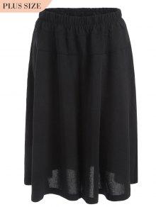 Capri Plus Size Wide Leg Pants - Black 4xl