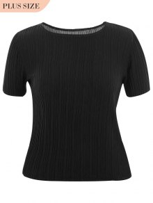 Plus Size Pleated Top - Black Xl