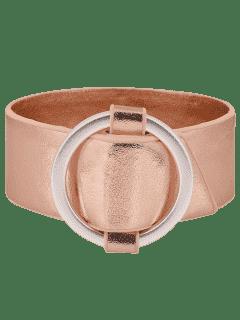 Bracelet En Métal En Métal Artificiel En Forme De Cercle - Or Rose