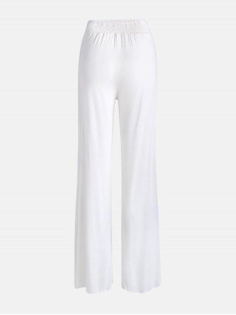buy High Slit Palazzo Pants - WHITE 2XL Mobile