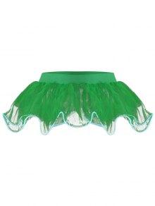Mesh Ballet Light Up Cosplay Party Skirt - Green