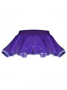 Mesh Ballet Light Up Cosplay Party Skirt - Purple