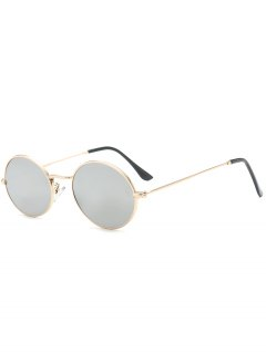 Oval UV Protection Sunglasses - Silver