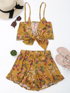 Floral Cami Top With Shorts Set - Floral S