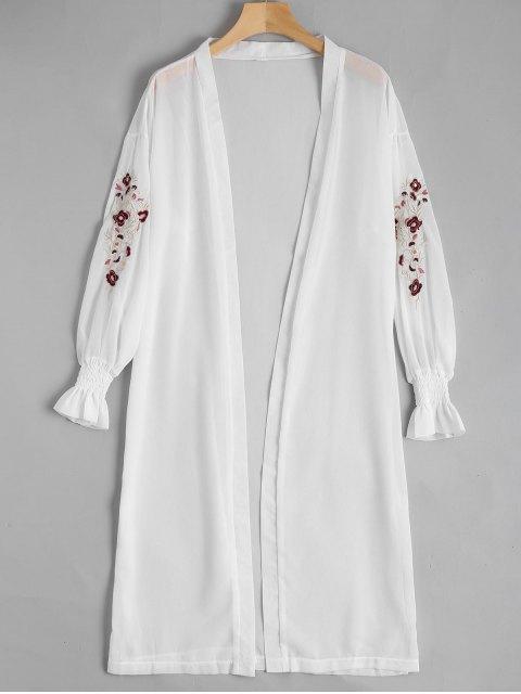 Blouson en mousseline de soie fleuri - Blanc TAILLE MOYENNE Mobile