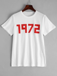 Cotton Number T-shirt - White M