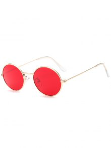 Oval UV Protection Sunglasses - Red