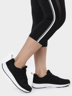 Eyelet Embroidery Mesh Breathable Athletic Shoes - Black 39