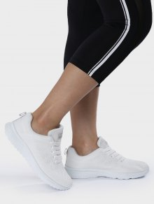 Eyelet Embroidery Mesh Breathable Athletic Shoes - White 38