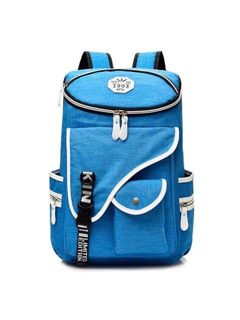 Sac à dos en nylon Jacquard Strap - Bleu  Mobile
