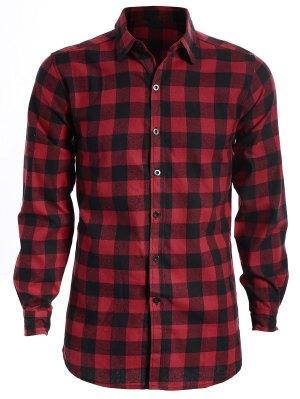 Mens Casual Checked Shirt