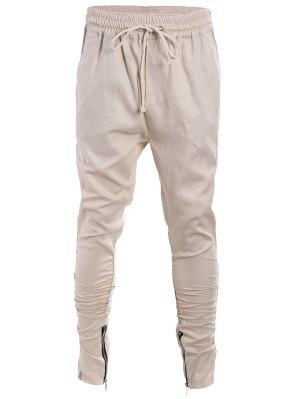 Slim Fit Drawstring Mens Twill Pants