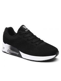 Air Cushion Mesh Athletic Shoes - Black 37