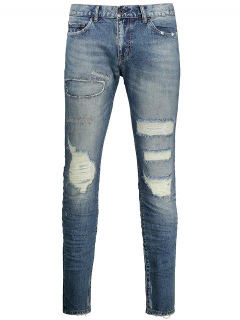shops Vintage Distressed Jeans - DENIM BLUE 36 Mobile