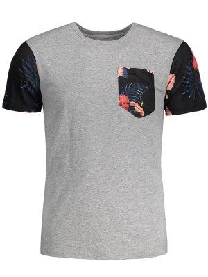 T-shirt Patch Imprimé Floral Tropical