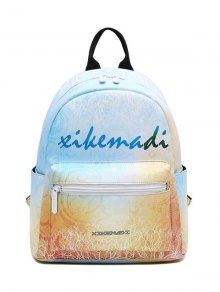 Faux Leather Painted Backpack - Yellow