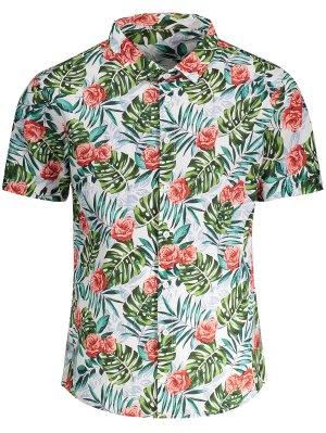 Short Sleeve Monstera Leaf Shirt