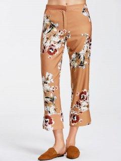 Floral Boot Cut Ninth Pants - Floral S